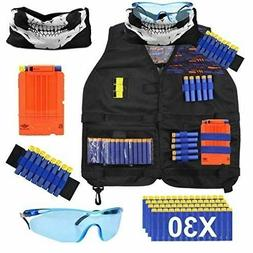 POKONBOY Tactical Vest Kids Tactical Vest Kit Compatible Ner
