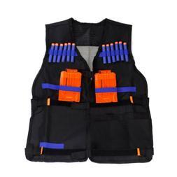 Tactical Vest Kids Toy Gun Clip Jacket Foam Bullet Holder fo