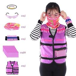 PeleusTech® Tactical Vest Kit, Girls Tactical Vest for Nerf