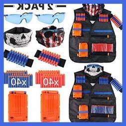 Tactical Vest Kit 2 Pack For Nerf Guns N Strike Elite Series