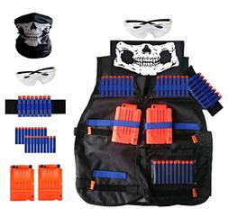 Locisne Kids Tactical Vest Kit with Nerf Guns N-Strike Elite