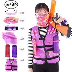 FenglinTech Girls Tactical Vest Kit for Nerf Rebelle Series