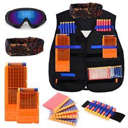 Forliver Kids Tactical Vest Kit, Kids Elite Tactical Vest Ki