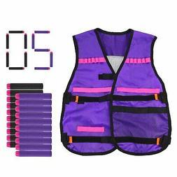 Tactical Vest Kit with 20PCS Soft Darts for Nerf N-Strike El