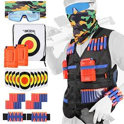 KASCIMU Tactical Vest Kit for Nerf Guns N-Strike Elite Serie