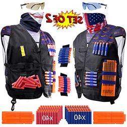 2 Pack Kids Tactical Vest Kit for Toy Guns War: 'Patriot VS
