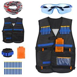 Junpro Kids Tactical Vest Kit for Nerf Guns N-Strike Elite S