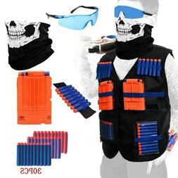 NERF TACTICAL VEST Kit Boys Game Gun Strike Foam Darts Mask