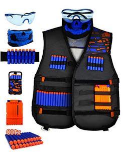 AKABELA  Kids Tactical Vest Kit Compatible with Nerf Guns N-