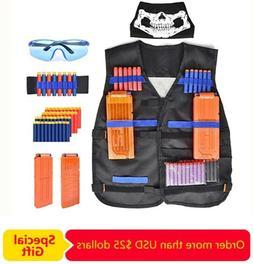 Tactical Vest Kit Compatible with Nerf Guns N-Strike Mega Se