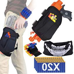 POKONBOY Kids Tactical Waist Bag Compatible with Nerf Holste