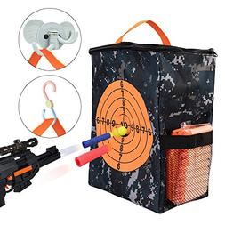 Target Pouch Storage Carry Equipment Bag for Nerf Guns Darts