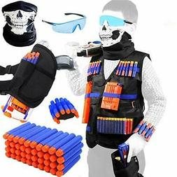 TAVEKI Tactical Vest Kit Compatible for Nerf Guns for Boys N