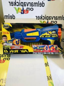 Buzz Bee Toys Air Tek 8 Warriors Nerf Foam Dart Gun Blaster