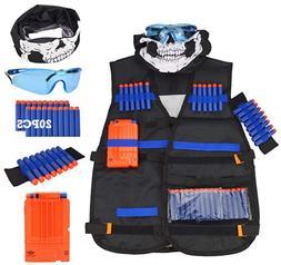 UWANTME Kids Tactical Best full Kit for Nerf Guns N-Strike E