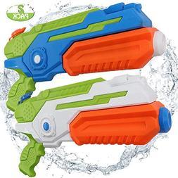 POKONBOY 2 Pack Water Guns Super Blaster Large Capacity 500M