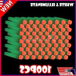 White Glow 100PCS Refill Bullet Darts for Nerf toy Gun N-str