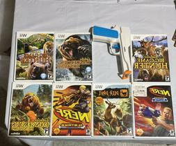 Wii Lot Of 7 Hunting Games / 4 Cabela's + Deer Drive + 2 Ner