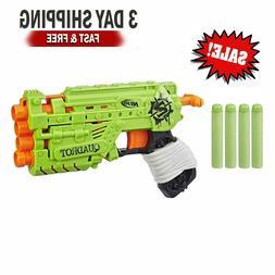 NERF Zombie Strike Quadrot 4 Elite Guns Pistol Shot Play Bla