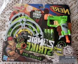 NERF Zombie Strike Target Set w/ Jolt Blaster Darts & 3 Stan